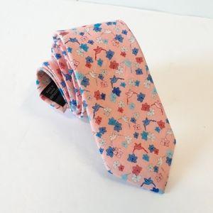 Bar III Floral Bird Skinny Cotton Mens Necktie